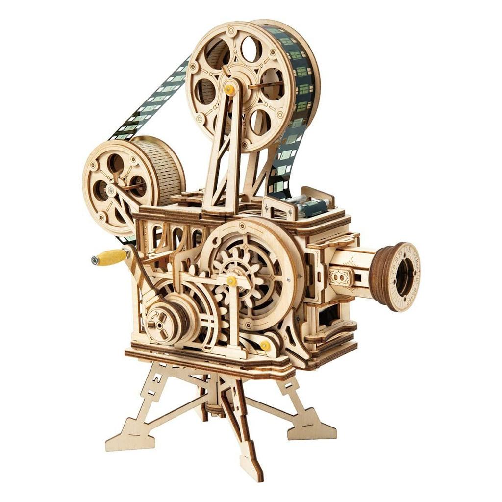 RoboTime 3D dřevěné mechanické puzzle Filmový projektor