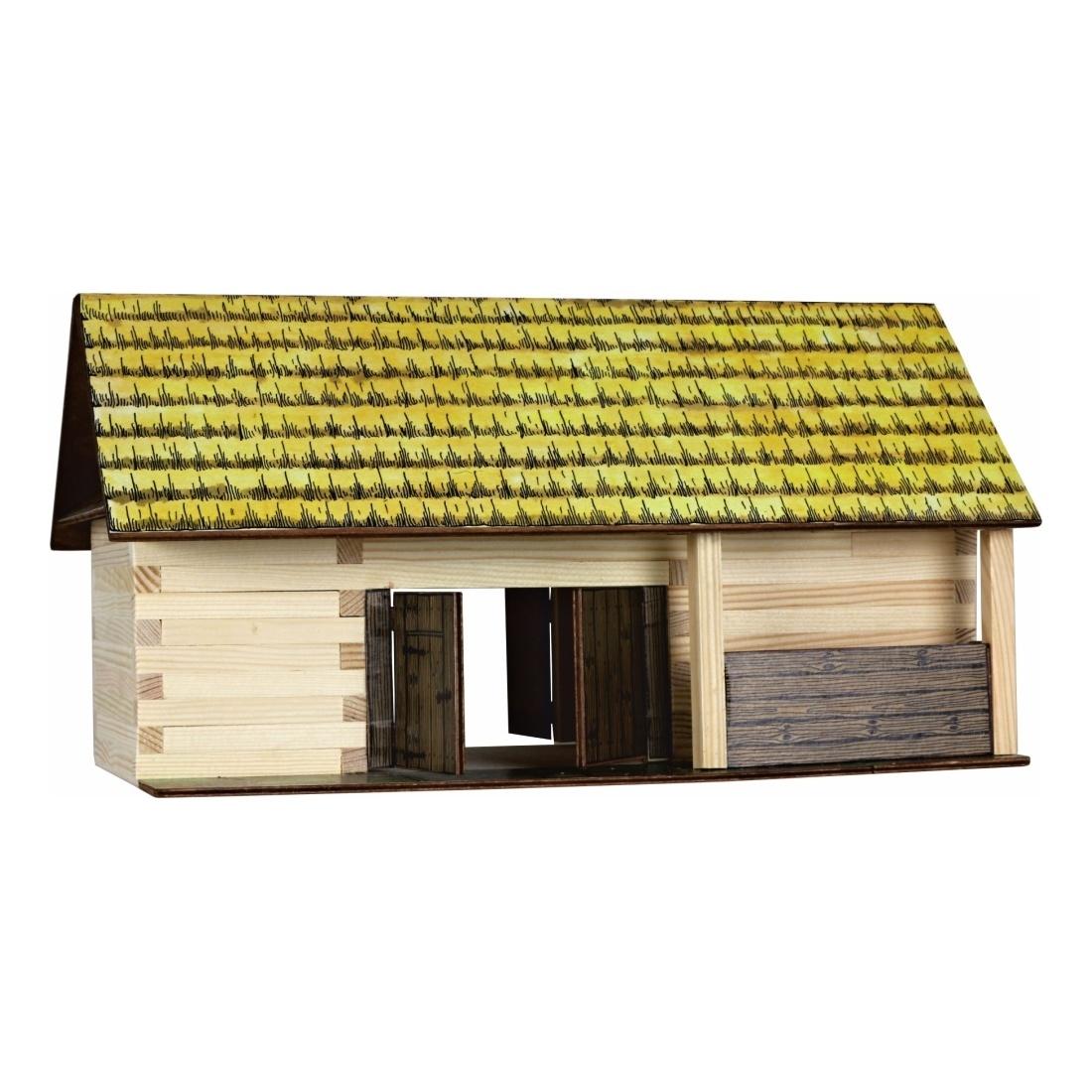 Walachia Dřevěná slepovací stavebnice Stodola