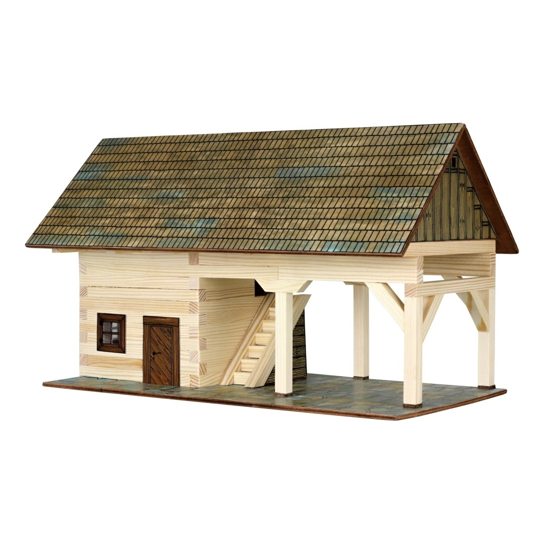 Walachia Dřevěná slepovací stavebnice Kolna