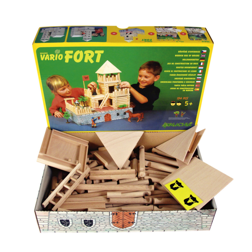 Walachia Dřevěná stavebnice Vario Fort 194 dílů
