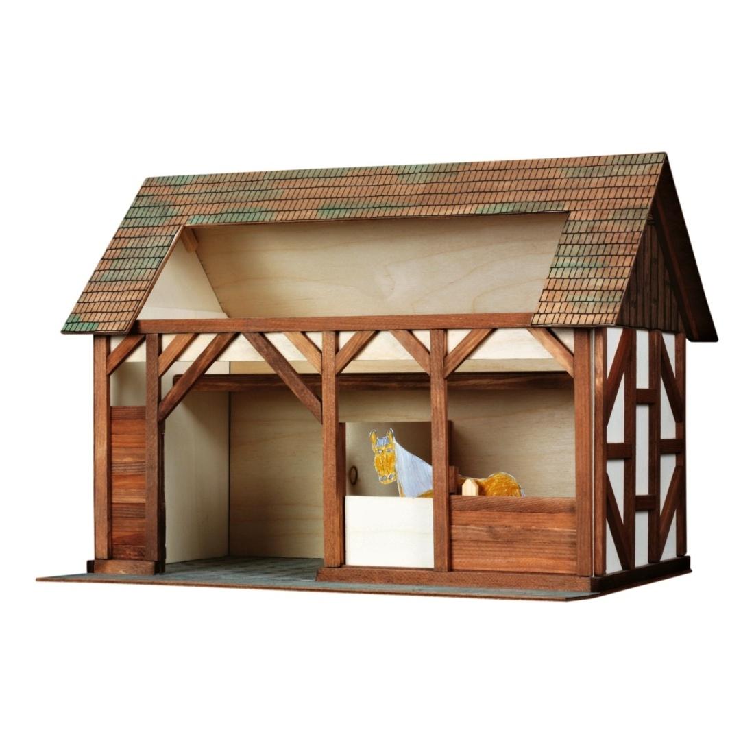 Walachia Dřevěná slepovací stavebnice Stáj