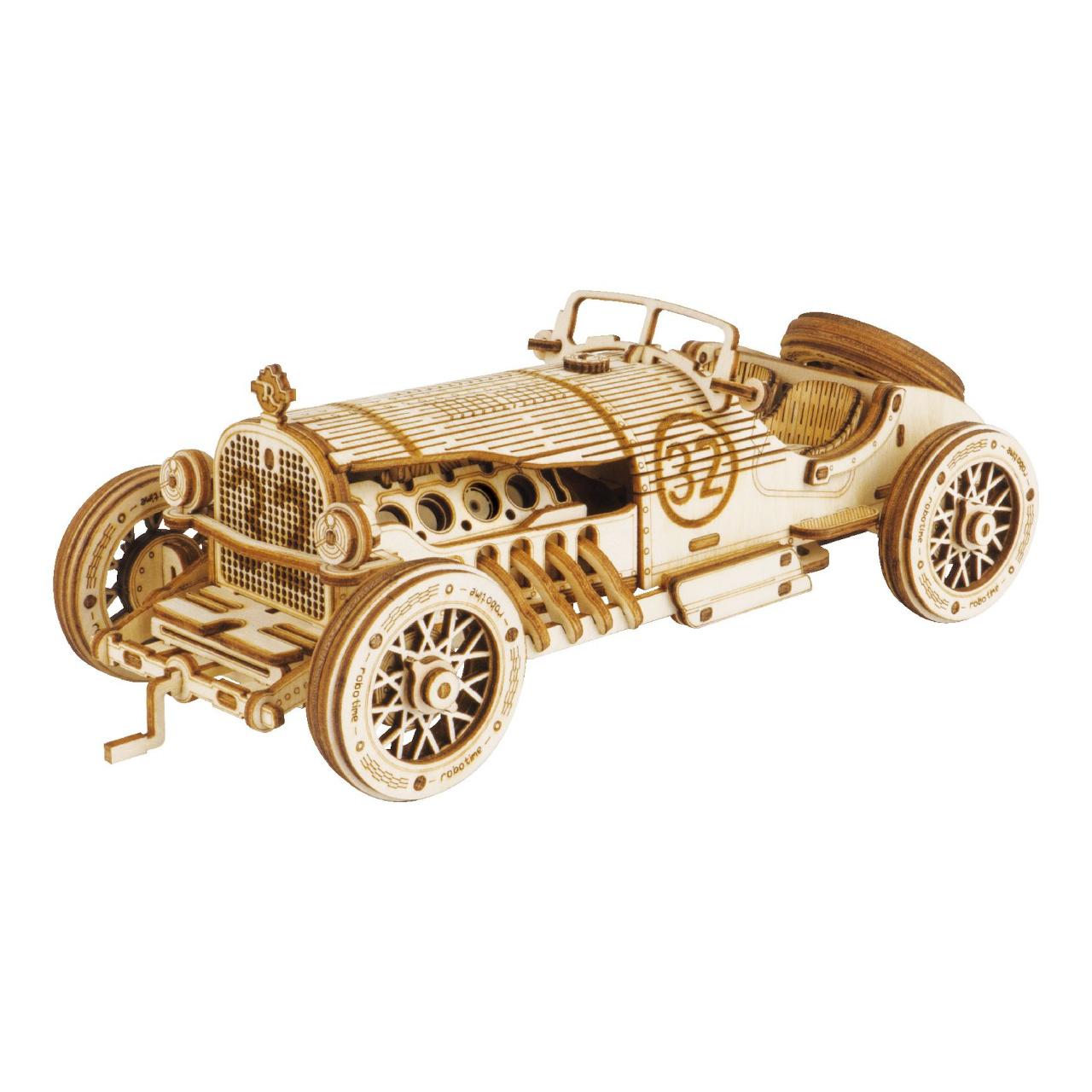 RoboTime dřevěné 3D puzzle Závodní auto