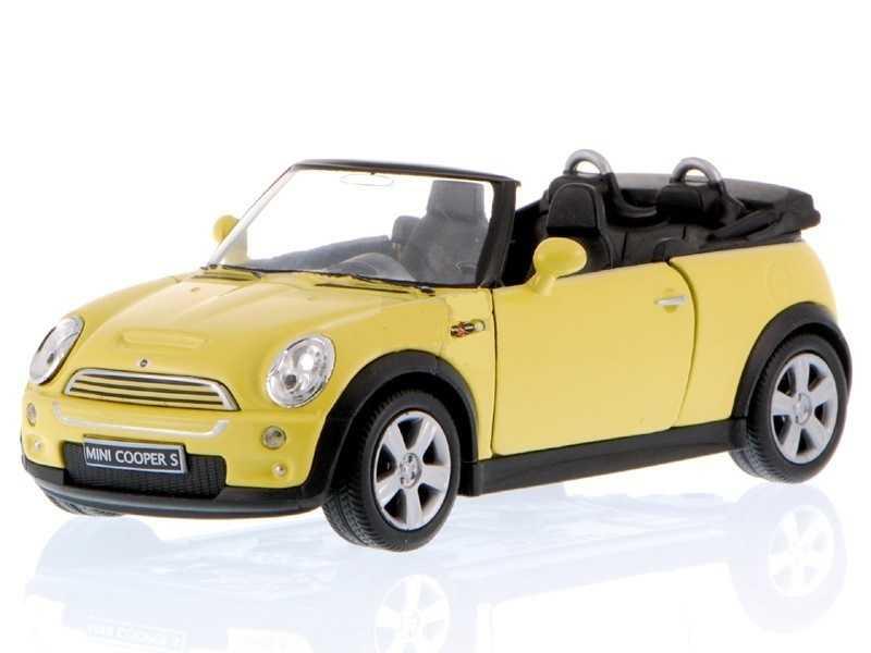 Welly -  Mini Cooper S Cabrio 1:34 žluté