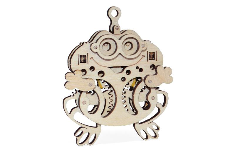 Wood Trick 3D mechanické puzzle - Žába