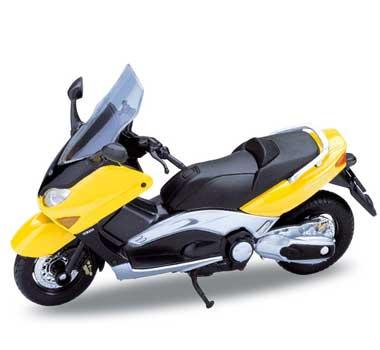 Welly - Motocykl Yamaha XP500 TMAX (2001) model 1:18 žlutá