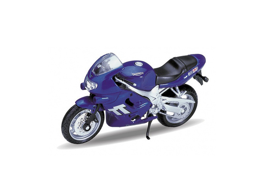 Welly - Motocykl Triumph TT600 (2002) model 1:18 modrý