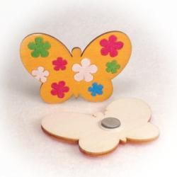 Dřevěné magnetky - Motýl květinový