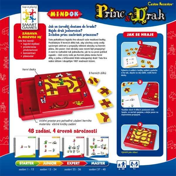 Dětské hlavolamové smart hry - Princ a drak cestou necestou