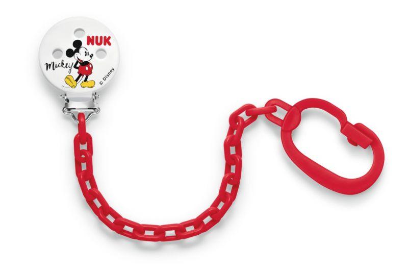 NUK Řetízek na dudlík Mickey Mouse červená