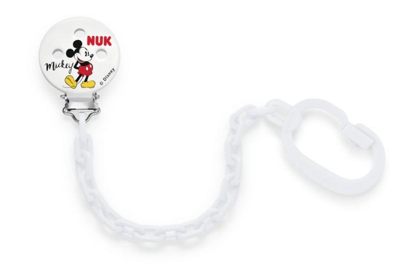 NUK Řetízek na dudlík Mickey Mouse bílá