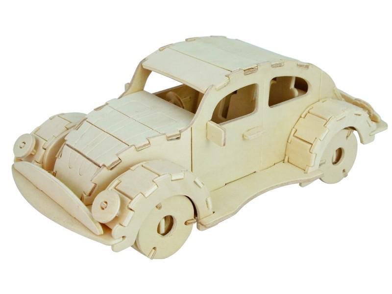 Woodcraft Dřevěné 3D puzzle VW Beetle