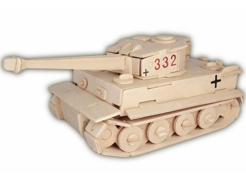Woodcraft Dřevěné 3D puzzle tank Tiger MK1