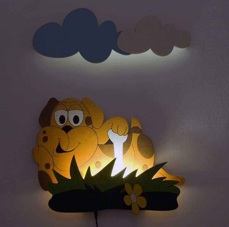 DoDo Dětská LED lampička pes