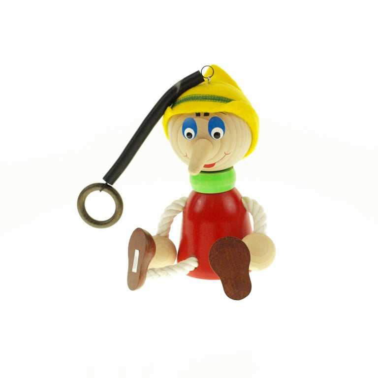 Pinocchio velký na pružině