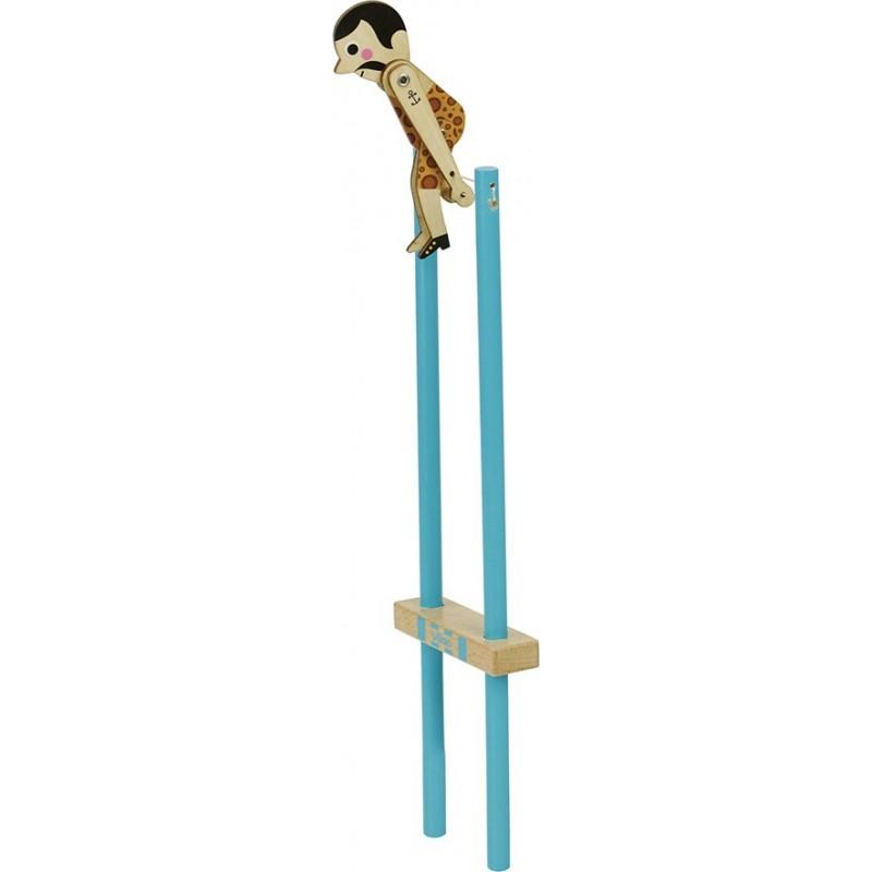 Vilac Dřevěný akrobat Salto 1 ks modrý Vilac Dřevěný akrobat Salto 1 ks modrý
