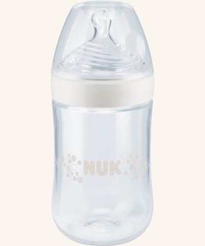 Láhev NUK Nature Sense, 260 ml, silikonová savička Béžová