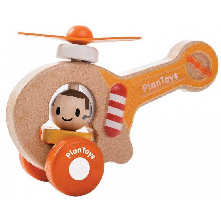 PlanToys Helikoptéra oranžová