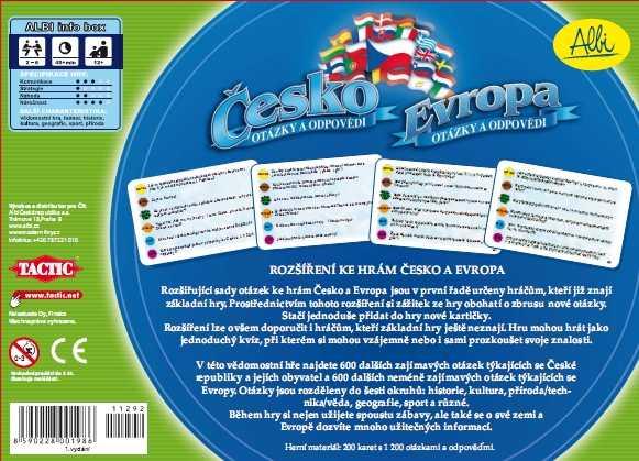 Rodinné deskové hry - Rozšíření ke hrám Česko a Evropa
