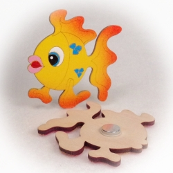 Dřevěné magnetky - Ryba