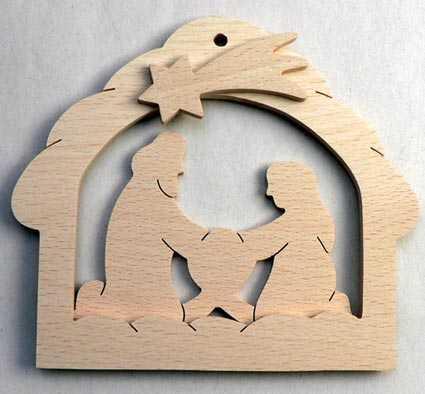 Makovský Svicen betlém z bukového dřeva