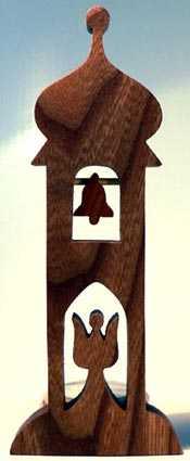 Makovský Dřevěný svícen Zvonice
