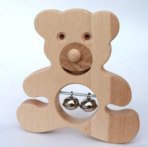 Muzikální hračky - Medvěd malý s rolničkami