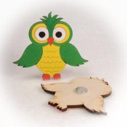 Dřevěné magnetky - Sova
