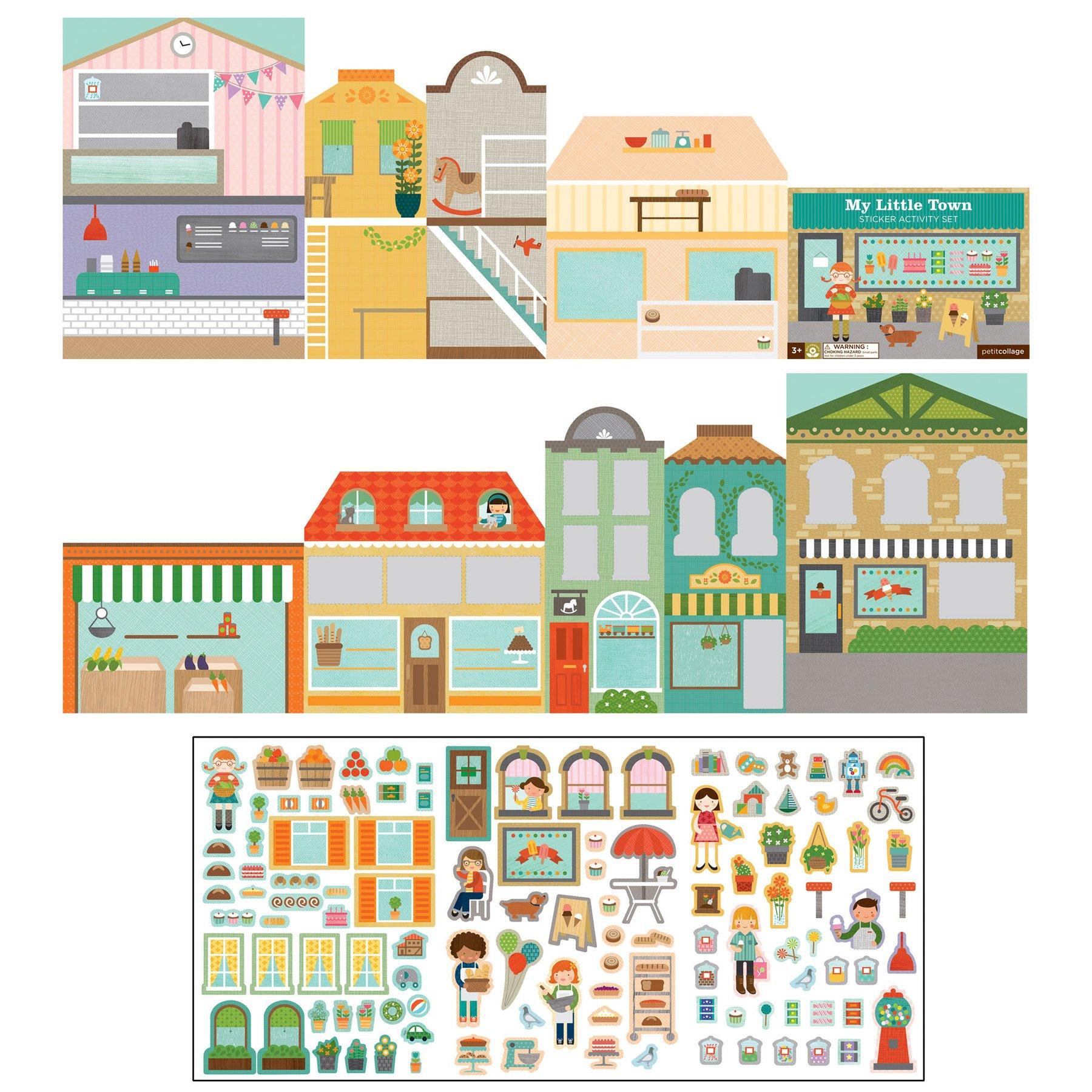 Petitcollage Kreativní samolepky  Moje malé město