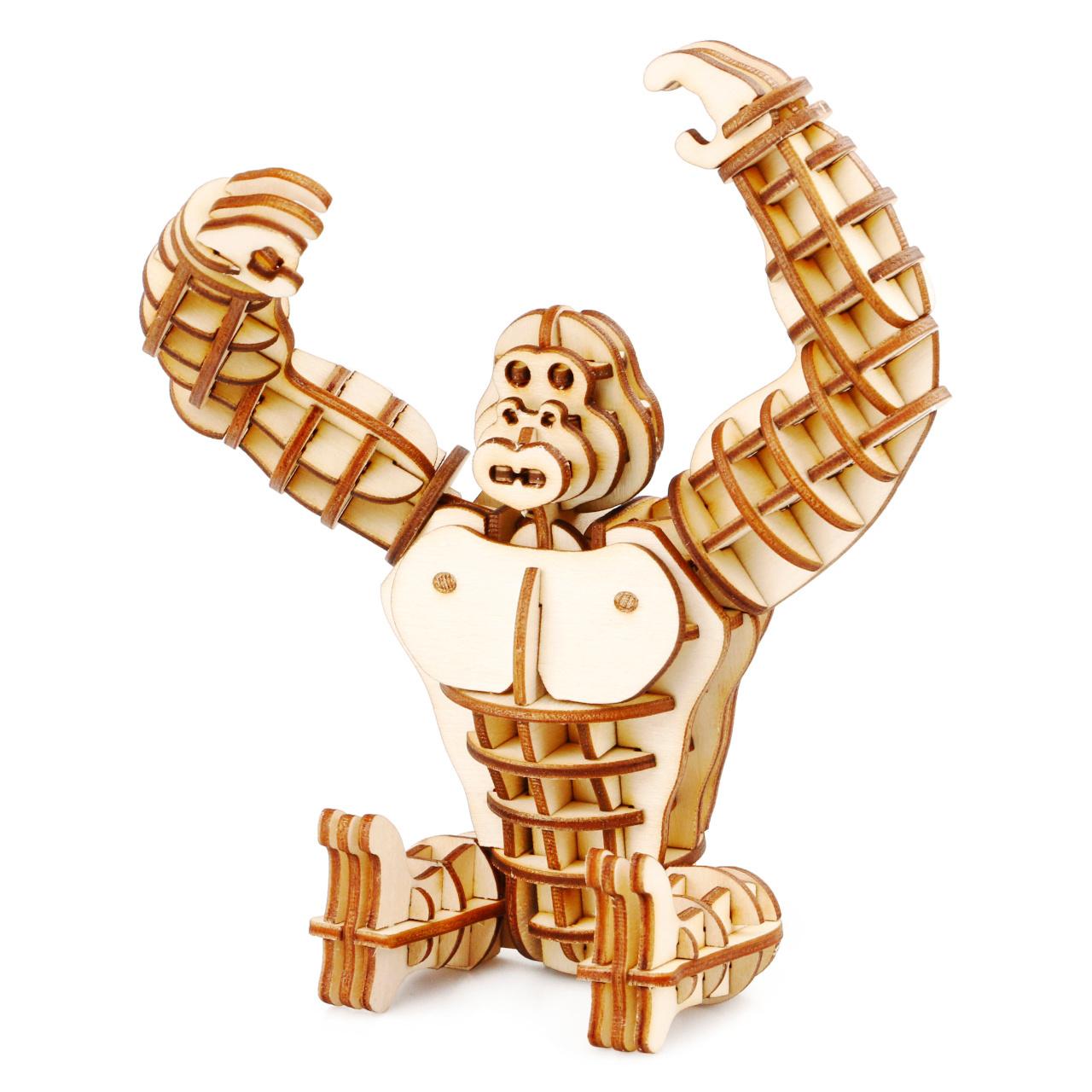 RoboTime dřevěné 3D puzzle Gorila