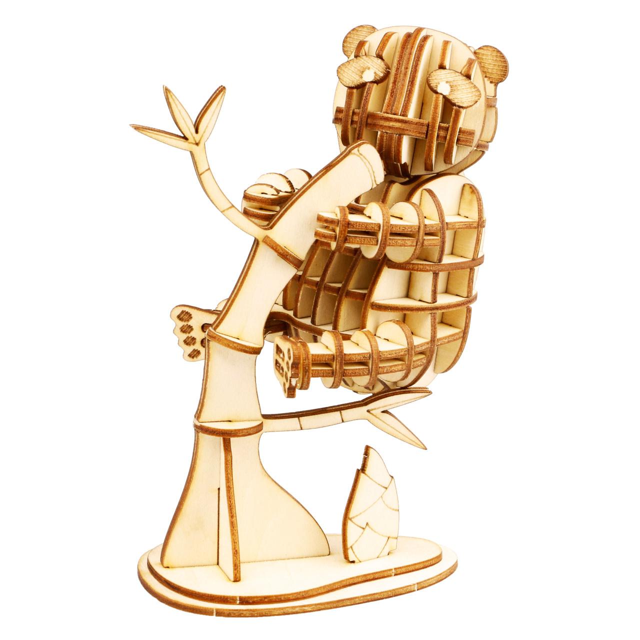 RoboTime dřevěné 3D puzzle Panda