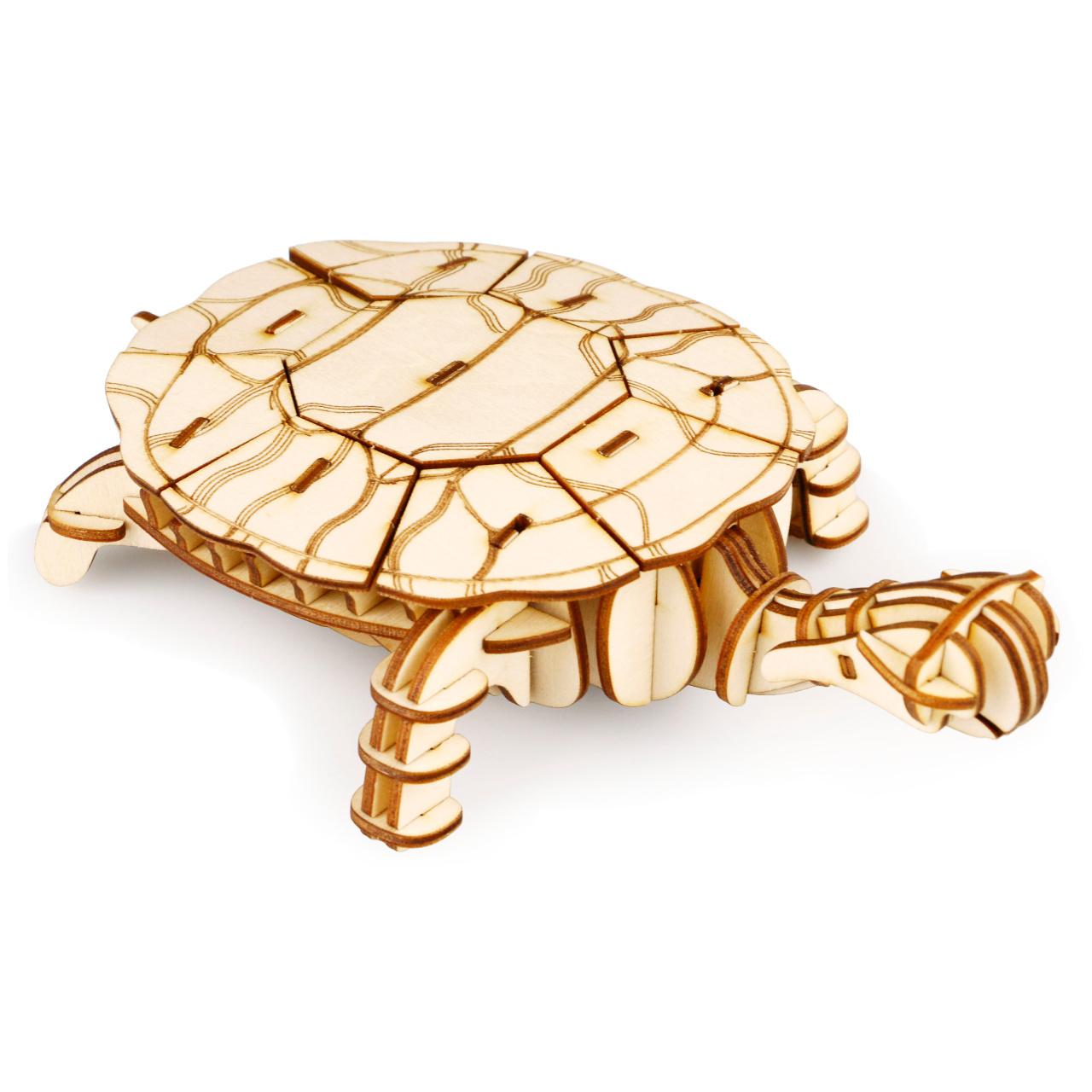 RoboTime dřevěné 3D puzzle Želva
