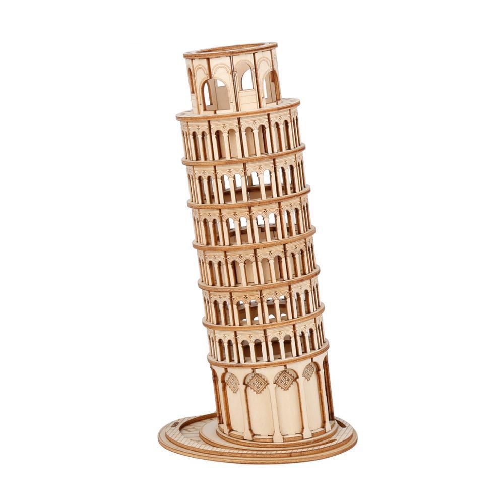 RoboTime dřevěné 3D puzzle Šikmá věž