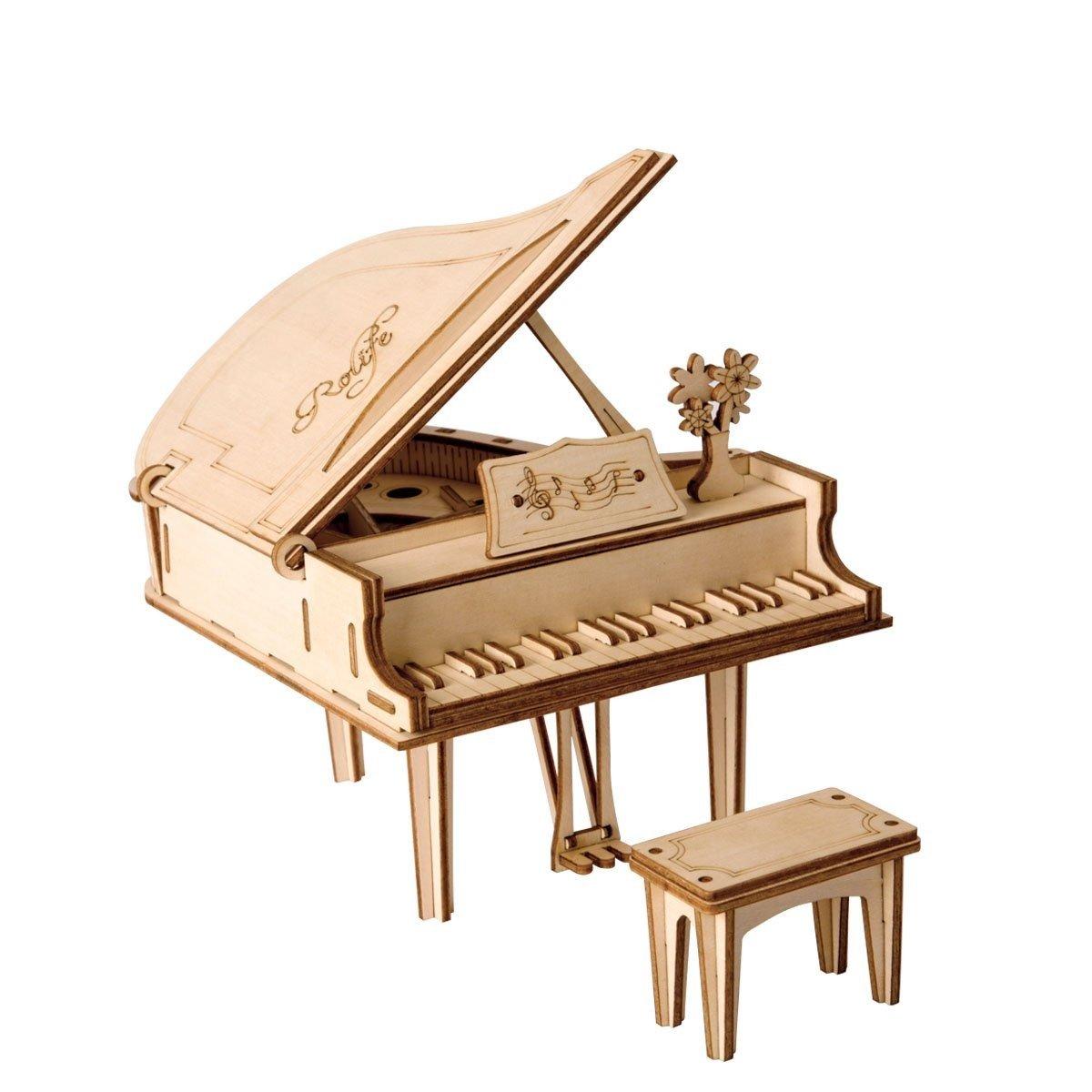 RoboTime dřevěné 3D puzzle Velké piano