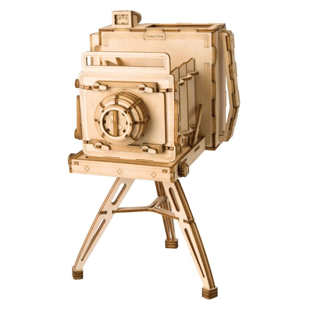 RoboTime dřevěné 3D puzzle Historický fotoaparát