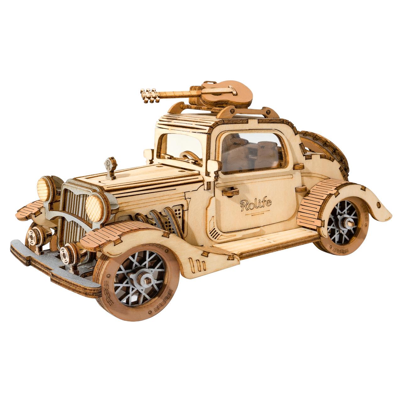 RoboTime dřevěné 3D puzzle Veterán kupé
