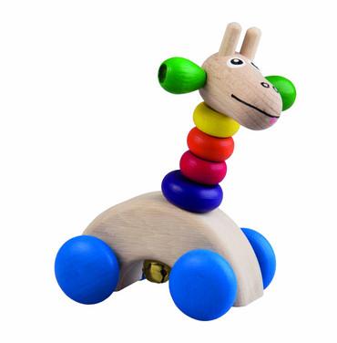 Detoa Dřevěná žirafa na kolečkách