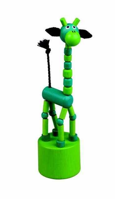 Dřevěné hračky -  dekorace - Žirafa zelená