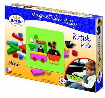 Dřevěné hračky - Magnetické dílky Krtek MINI