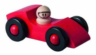 Detoa dřevěné autíčko červené