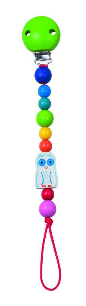 Dřevěné hračky pro nejmenší - Baby klips sovička