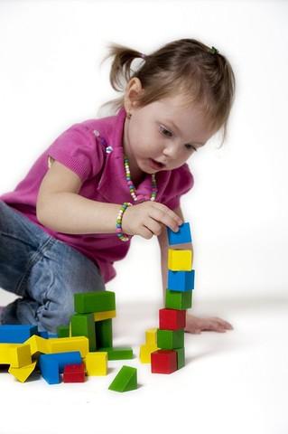 Dřevěné hračky - dřevěná stavebnice kostky 50 ks