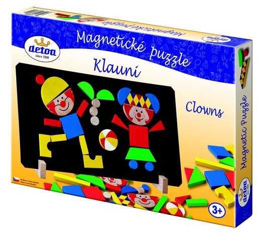 Dřevěné hračky - Magnetické puzzle klauni