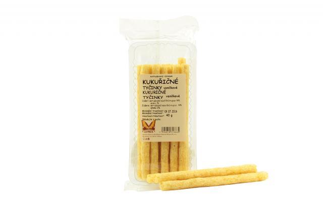 Zdravé mlsání - Kukuřičné tyčinky - vanilkové Natural