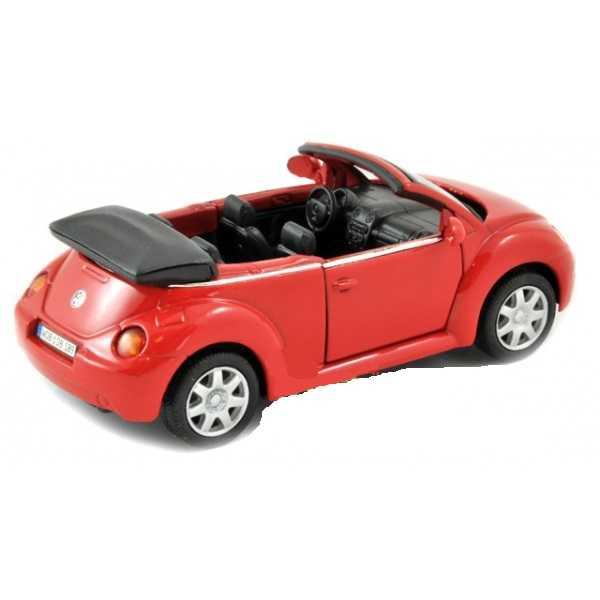 Welly - VW New Beetle Convertible1:34 červený