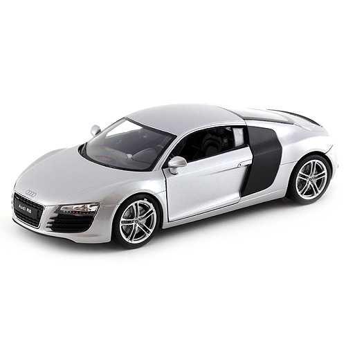 Welly - Audi R8 V10 1:24 stříbrná