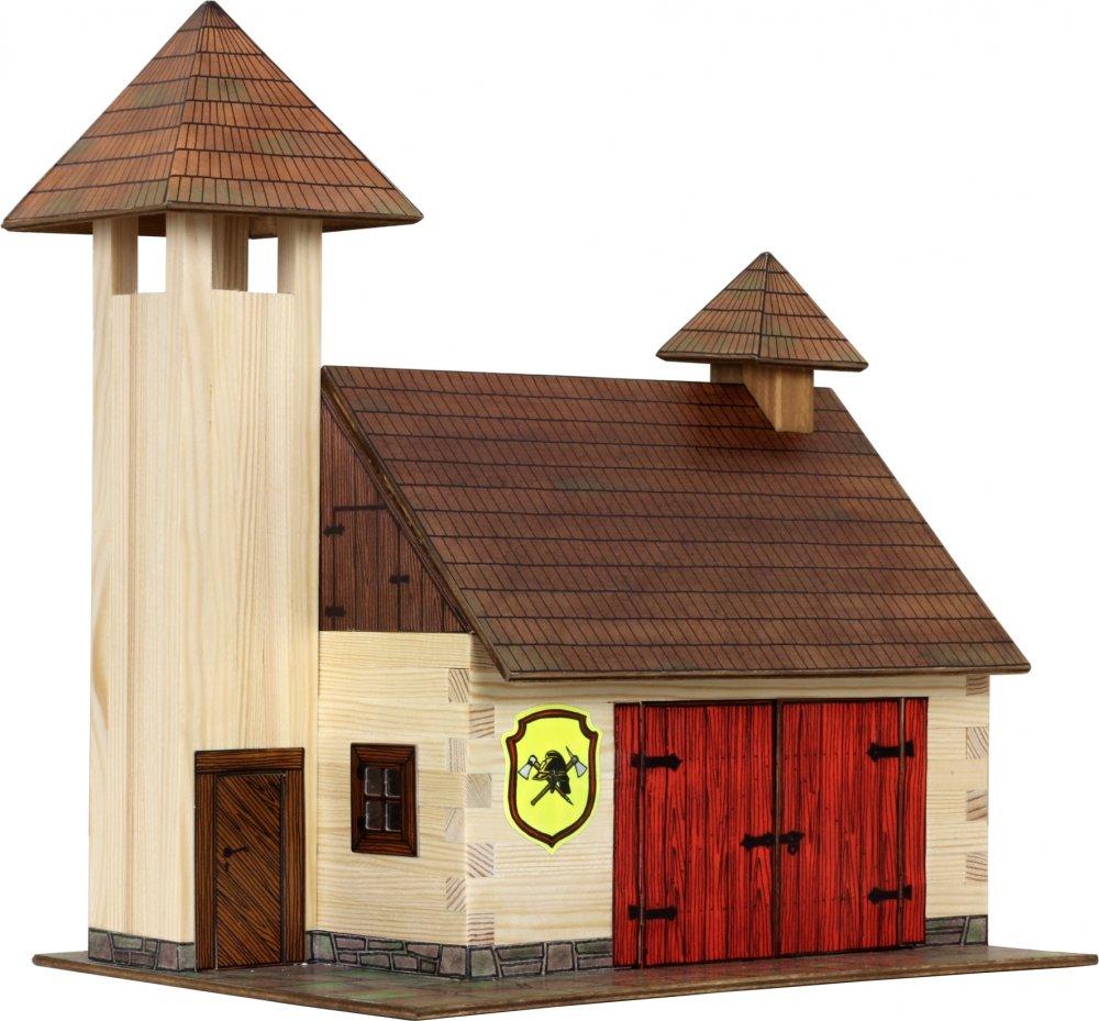 Walachia Dřevěná slepovací stavebnice Hasičská zbrojnice