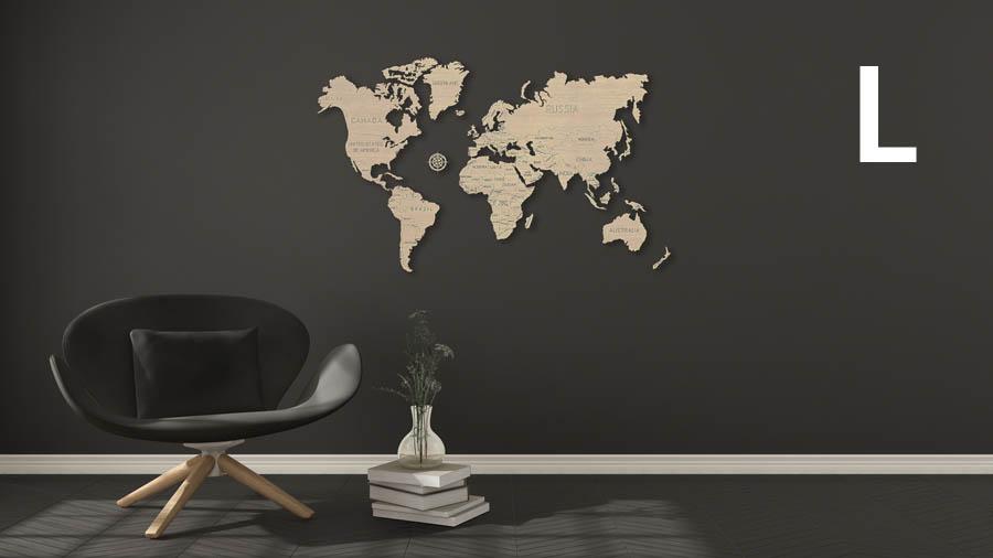 Wooden City 3D puzzle - Mapa světa L