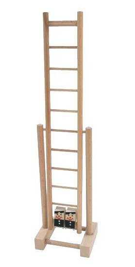 Dřevěný žebřík závodící kominíci