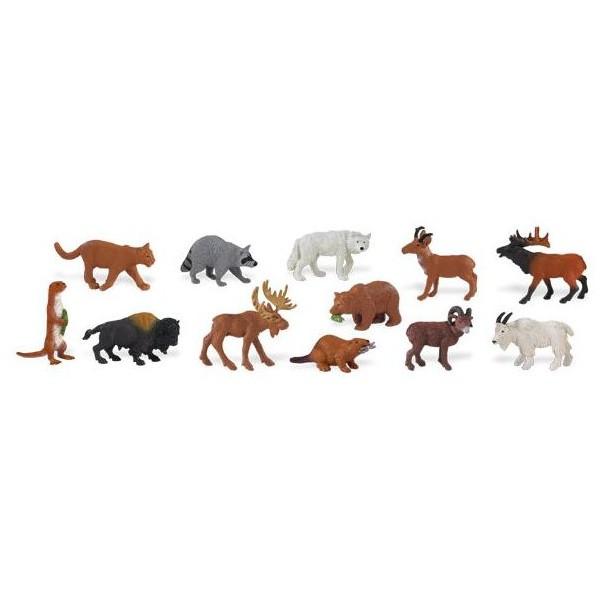 Safari Zvířata Severní Ameriky 48 kusů